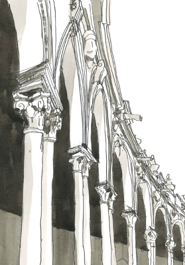 plaza espana/ sevilla/ 2012/ 20x20 cm/ oostindische inkt